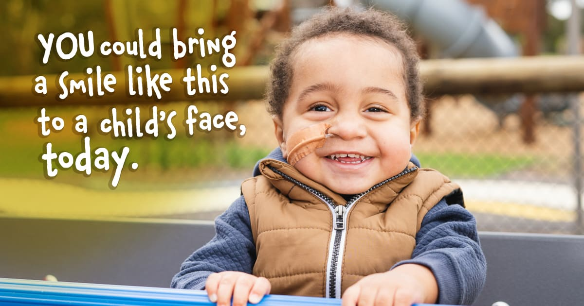 You can help build a playground and outdoor space, supporting kids to recover quicker and get out of hospital, sooner.